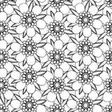 Zwart-wit bloemenpatroon Royalty-vrije Stock Fotografie