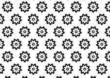 Zwart-wit bloempatroon Royalty-vrije Stock Foto