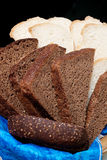 Zwart-wit brood royalty-vrije stock foto's