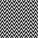 Zwart-wit Chevronpatroon Stock Afbeelding