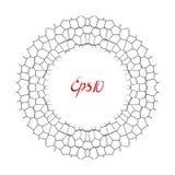 Zwart-wit cirkelkader Royalty-vrije Stock Foto
