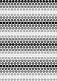 Zwart & Wit Cirkelspatroon stock illustratie