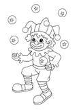 Zwart-wit - clown Stock Afbeelding