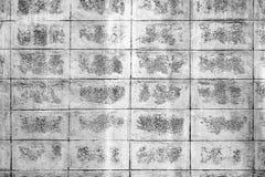 Zwart-wit de muurpatroon van het mortierblok Royalty-vrije Stock Foto