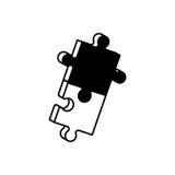 zwart-wit de oplossing van het stukkenraadsel Royalty-vrije Stock Foto