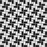 Zwart-wit de textuur naadloos patroon met de wijzers van de klok mee van de baksteen spiraalvormig tegel Stock Illustratie