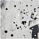 Zwart-wit decoratief schrootbehang Stock Afbeelding