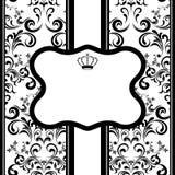 Zwart-wit decoratieframe Royalty-vrije Stock Foto