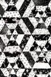 Zwart-wit dekbedpatroon Stock Foto