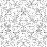 Zwart-wit diamant naadloos patroon Stock Afbeeldingen