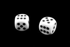 Zwart-wit dobbel stock afbeelding