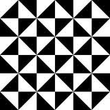 Zwart-wit driehoeks abstract pictogram als achtergrond groot voor om het even welk gebruik Vector eps10 Stock Fotografie