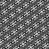 Zwart-wit driehoekspatroon vector illustratie
