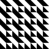 Zwart-wit driehoekspatroon Stock Foto