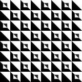 Zwart-wit driehoekspatroon Stock Fotografie