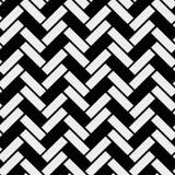 Zwart-wit eenvoudig houten het parket naadloos patroon van de vloervisgraat, vectorachtergrond eps 10 royalty-vrije illustratie