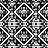 Zwart-wit Etnisch geometrisch naadloos patroon vector illustratie
