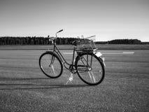 Zwart-wit fiets Stock Fotografie