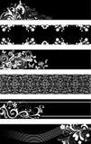 Zwart-wit frames Royalty-vrije Stock Afbeeldingen