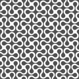 Zwart-wit gebogen geometrisch naadloos patroon Stock Afbeeldingen