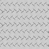 Zwart-wit gebogen lijnen naadloos patroon royalty-vrije illustratie