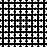 Zwart & wit gecontroleerd naadloos patroon met rond gemaakte vormen Royalty-vrije Stock Foto