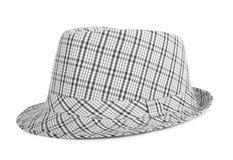Zwart-wit gecontroleerde hoed voor de zomer Stock Afbeelding