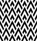 Zwart-wit geometrisch naadloos patroon Stock Fotografie