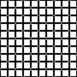 Zwart-wit geometrisch naadloos patroon vector illustratie