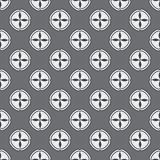 Zwart-wit geometrisch naadloos patroon Royalty-vrije Stock Afbeelding