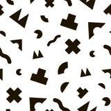Zwart-wit geometrisch naadloos patroon Stock Foto