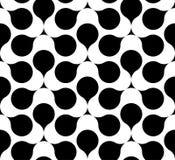 Zwart-wit geometrisch naadloos patroon, abstracte achtergrond Stock Foto