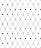 Zwart-wit geometrisch naadloos patroon, abstracte achtergrond Stock Foto's