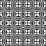 Zwart-wit geometrisch naadloos patroon Hand D stock afbeeldingen