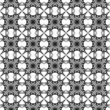Zwart-wit geometrisch naadloos patroon Hand D stock illustratie