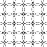 Zwart-wit geometrisch naadloos patroon met cirkel, abstracte achtergrond, illustratie Royalty-vrije Stock Afbeelding