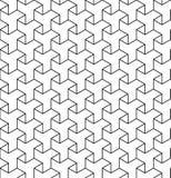 Zwart-wit geometrisch naadloos patroon met lijn en triangl Stock Foto's