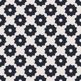 Zwart-wit geometrisch naadloos vectorpatroon Stock Afbeeldingen