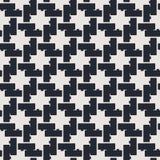 Zwart-wit geometrisch naadloos vectorpatroon Royalty-vrije Stock Fotografie
