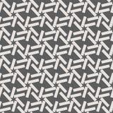 Zwart-wit geometrisch naadloos vectorpatroon met lijnen Stock Foto's