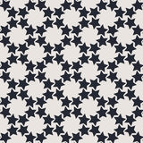 Zwart-wit geometrisch naadloos vectorpatroon met sterren Stock Afbeelding