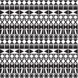 Zwart-wit Geometrisch Patroon Royalty-vrije Stock Afbeelding