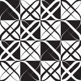 Zwart-wit Geometrisch Patroon Royalty-vrije Stock Foto