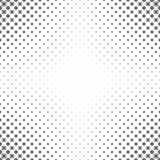 Zwart-wit geometrisch patroon - abstract bloemen vectorontwerp als achtergrond van gebogen vormen stock illustratie