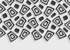 Zwart-wit geometrisch patroon abstract malplaatje als achtergrond Royalty-vrije Stock Afbeeldingen