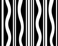 Zwart-wit gestreept grafisch ontwerp Stock Afbeelding