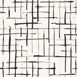Zwart-wit grunge geruite textuur stock illustratie