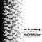 Zwart-wit Halftone Ontwerp Royalty-vrije Stock Fotografie