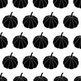 Zwart-wit Halloween-patroon Stock Foto