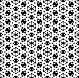 Zwart-wit herhaal patroon vector en naadloze achtergrond vector illustratie